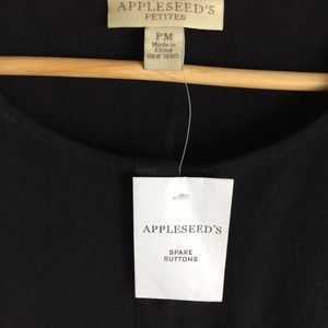 Appleseed's Dresses - Appleseed Petites Black Cotton Jumper Size 3X